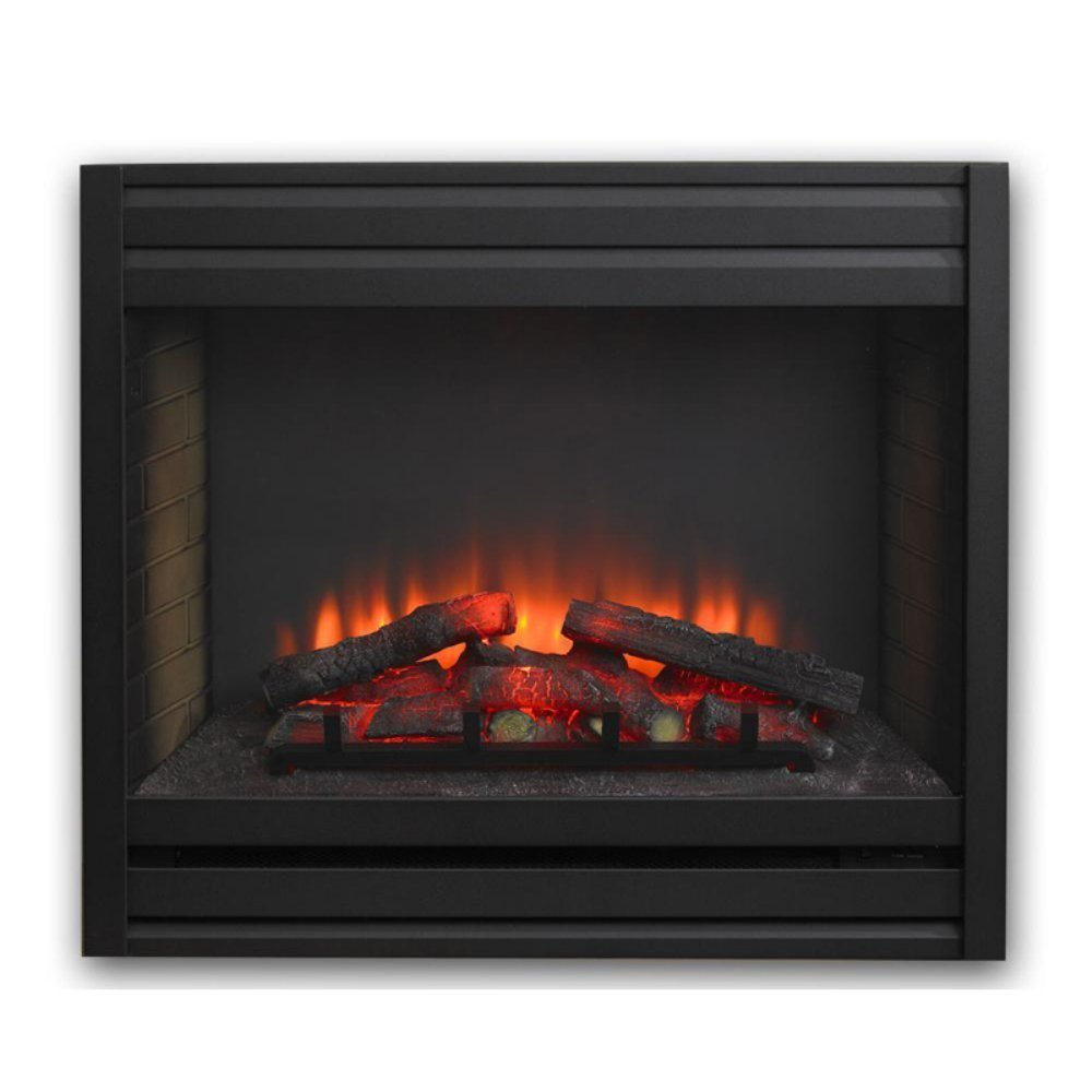Outdoor GreatRoom Louvre Built-In Electric Fireplace