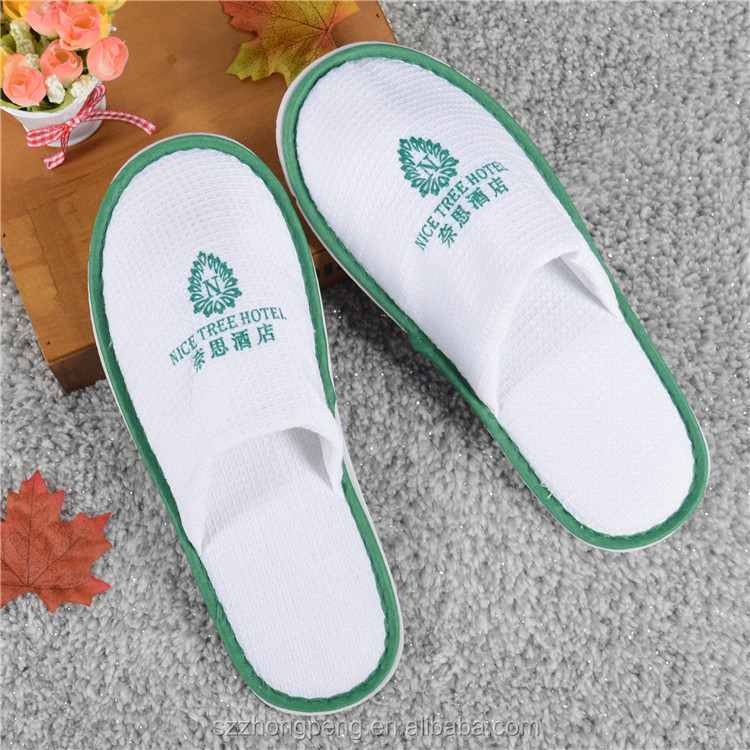 Customized logo personalized hotel slippers