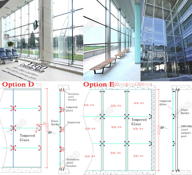 Glass Curtain Wall Tempered Glass Partition_Glass Curtain