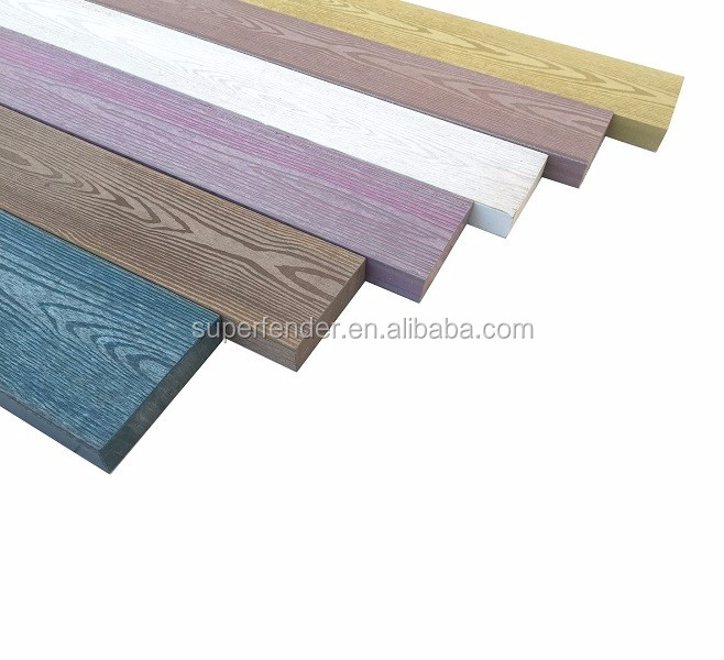 New colored not chip replacing WPC outdoor plastic plank
