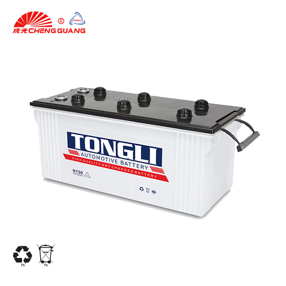 TONGLI brand Most Reliable 12V Heavy Duty Auto/Truck Battery Lead Acid Battery N150 150ah