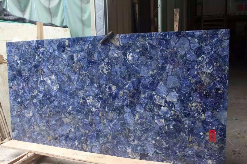 Vetro stratificato con lastre di pietra di marmo e piastrelle per