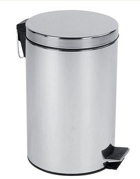 High quality Stainless Steel 12L Silver Pedal Bin Kitchen Bathroom Toilet Rubbish Office Waste bin
