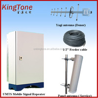 Long distance gsm repeater mobile signal booster 900 2100 2g 3g dual band amplifier