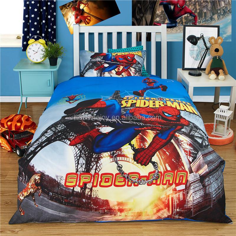 Upmarket 205tc 100% Cotton Twin Boys Bed Linen Spirderman Cartoon Kids 3d  Bedding Set - Buy Kids 3d Bedding Set,Cartoon Kids 3d Bedding Set,Spiderman  ...