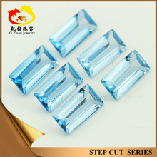 big store rough process baguette step cut light aquamarine gem stones for whole sale in factory price
