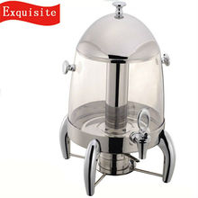 Deluxe Large Capacity Stainless Steel Coffee Dispenser/glass beverage dispenser