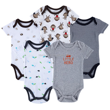 afcece71b660 Hot sale short sleeve kids romper sets organic cotton baby boy clothes 0-3  months
