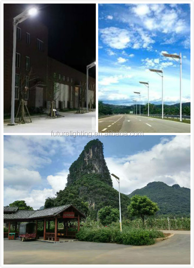 Waterproof auto-sensing with motion sensor 60w integrated 12v dc solar powered solar led street light