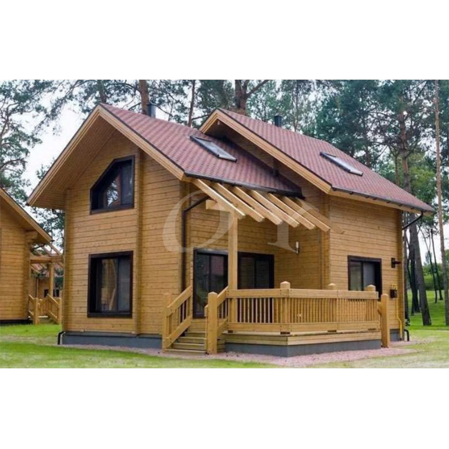 Hot Sell Modular Home 2-story prefab wooden house