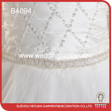 B4094 Graceful Beaded Bridal Dress Belt for Wedding Party