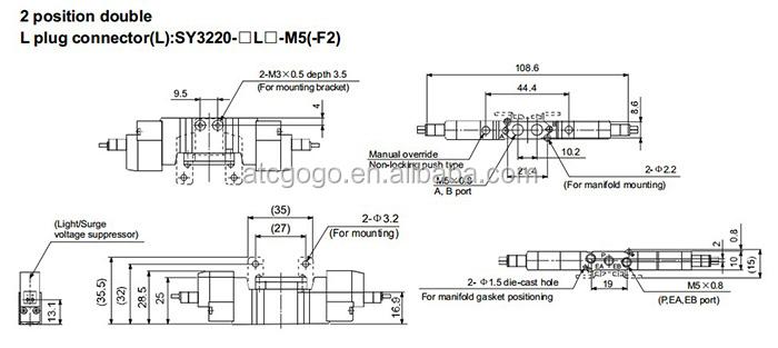 VJ1145MNZ SMC NVJ100 32 SolenoidSpring Manifold Pneumatic. Exelent