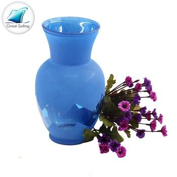 Home Decor Cylinder Bule Glass Vases Wholesale Cheap Buy Bule