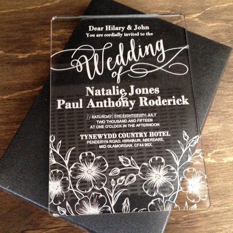 New Design Acrylic Laser Cut Wedding Invitations Wholesale Buy