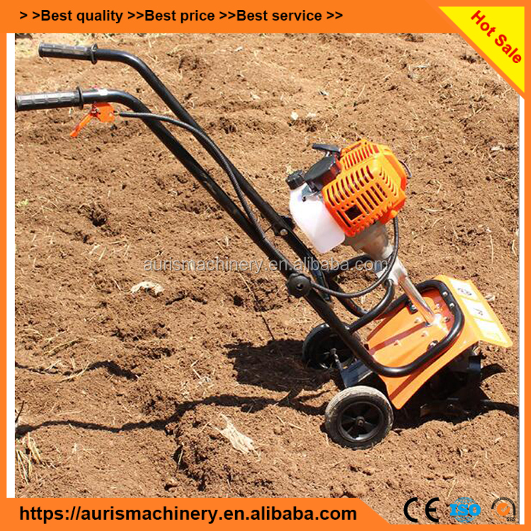 Mini Farming Soil Hand Push Garden Tiller And Cultivator Ploughing