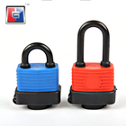30 40 50 60 mm waterproof color plastic coated pad locks color plastic waterproof plastic painted cover padlock