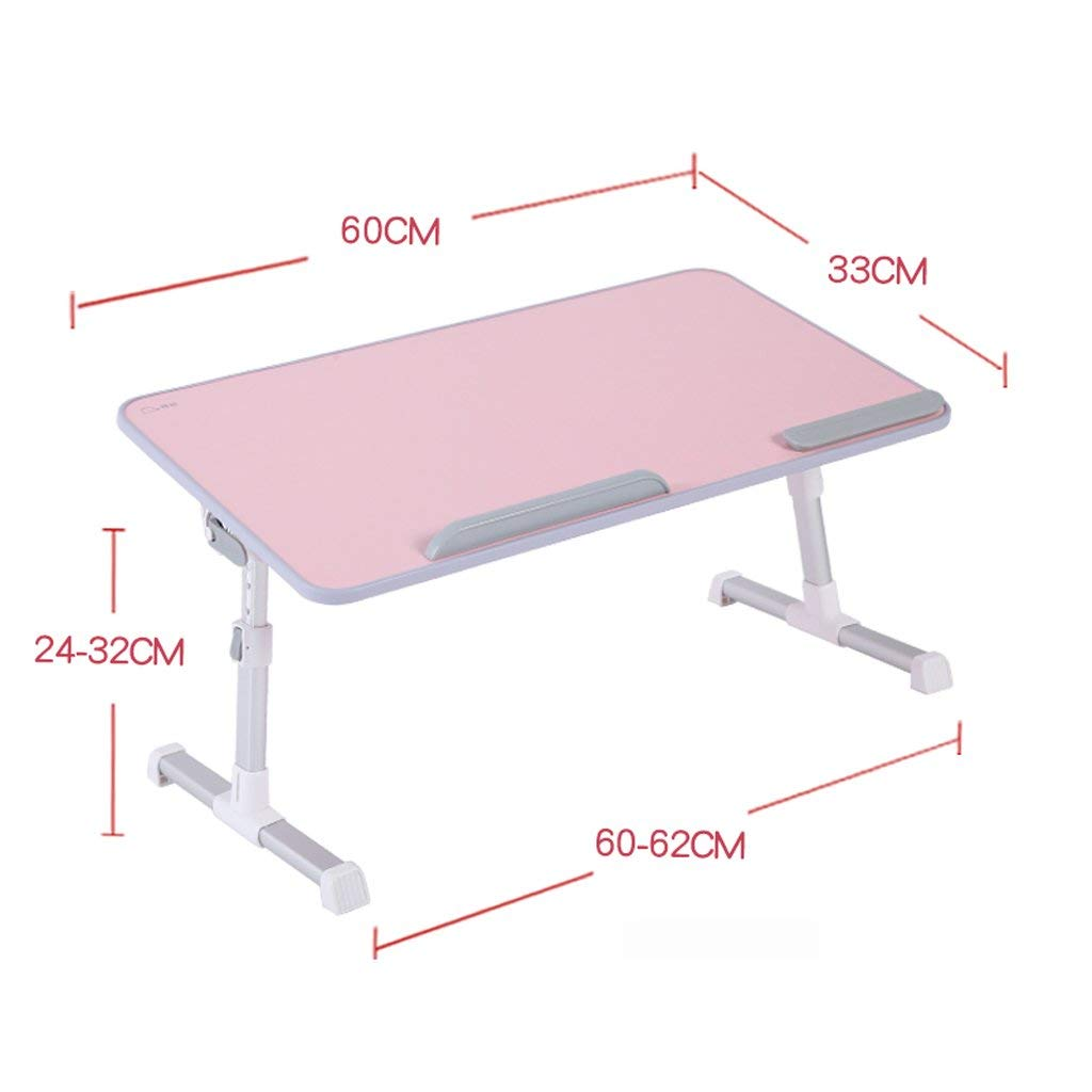 Adjustable Laptop Bed Table, Portable Desk, Breakfast Tray, Laptop Stand Book Reading Rest Frame Sofa Floor Children (Color : 3)