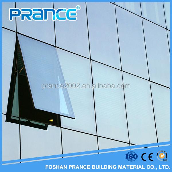 Muro cortina de vidrio sin marco estructural para la casa-Muros de ...