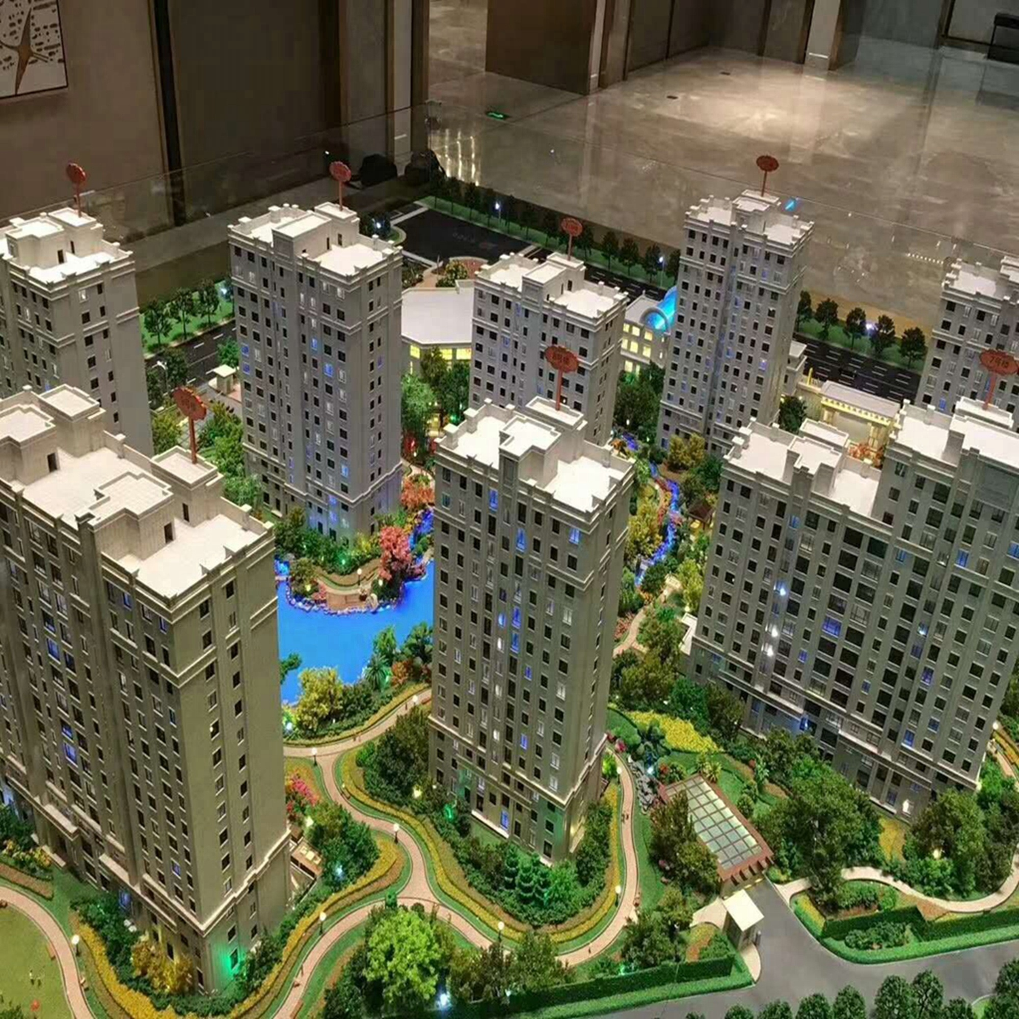 3D real estate new design model / architectural scale model making / construction building models