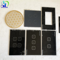 Good quality factory price custom logo stained touch switch crystal glass panel sale
