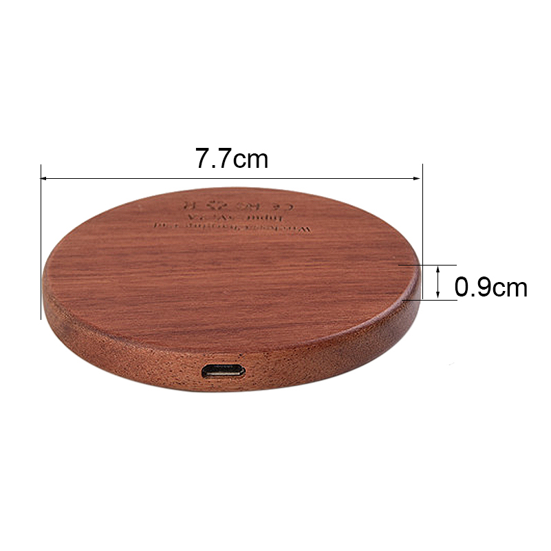Custom Logo Wireless Charger Wooden Mobile Phone Use Fast Qi Wireless Charger