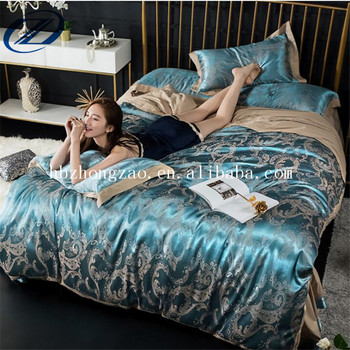 Luxury Chinese Pure 100% Mulberry Silk Bedding Set / Silk Bed Sheet