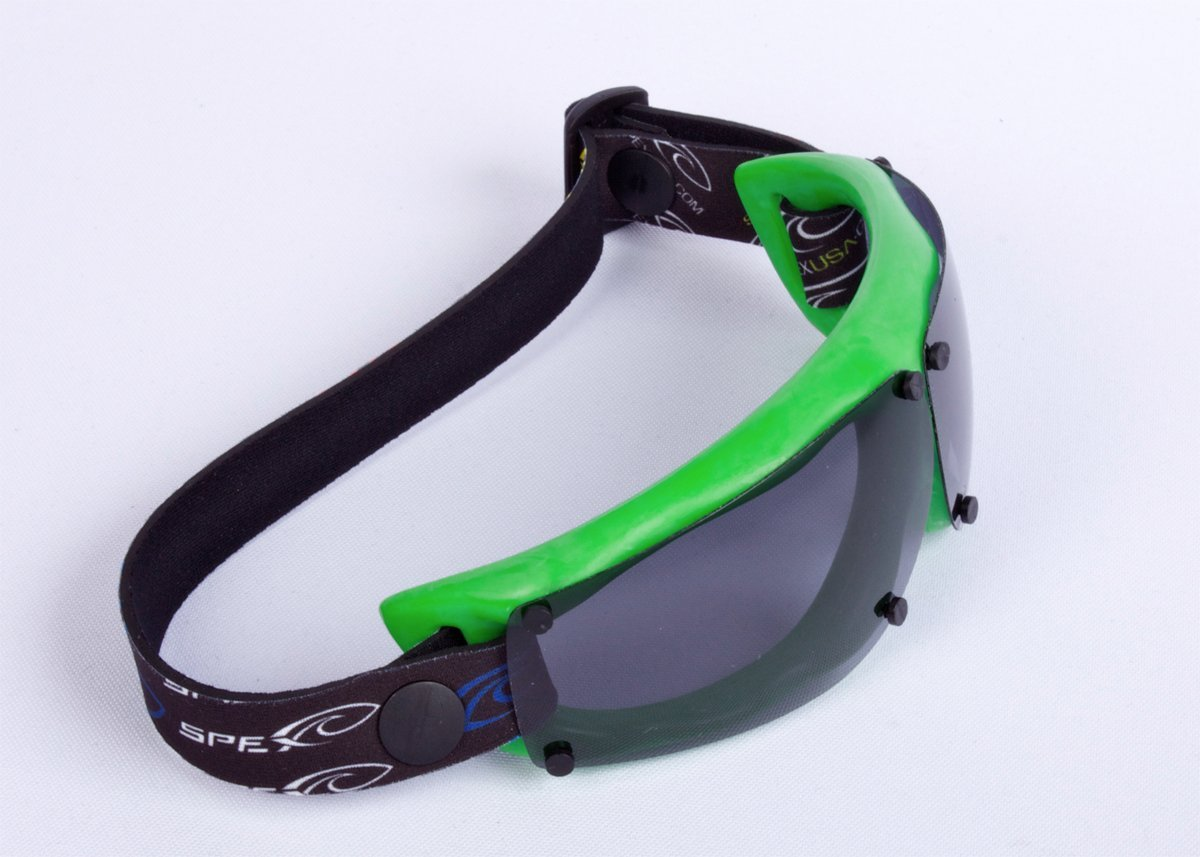 Spex Amphibian Eyewear GREEN with All WEATHER Polarized Lenses. Made in USA. Float. 100% UV Protection. SPEX are ideal for all water sports. Protect 2 of Your Most Valuable Assets...Your Eyes