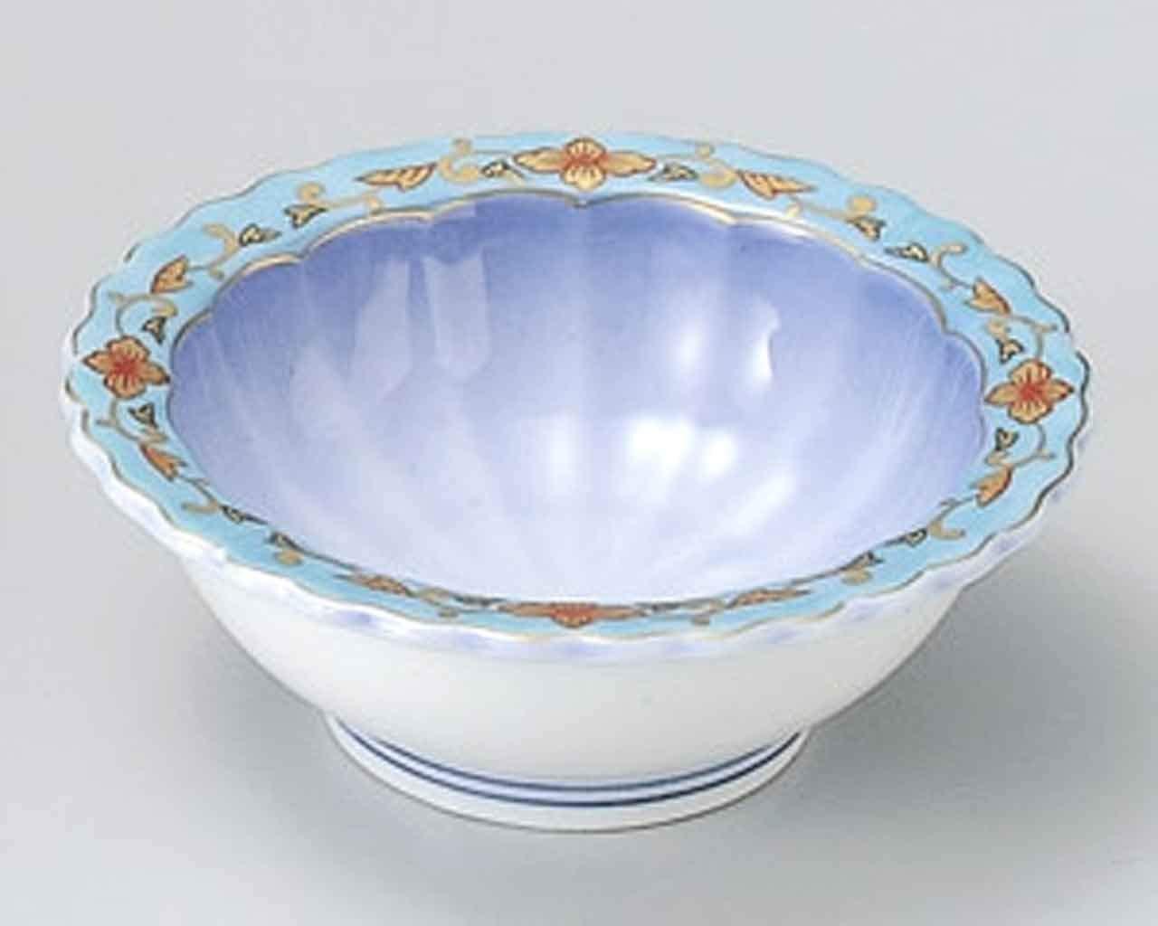 Kohshi Karakusa 3.4inch Set of 2 Small Bowls White porcelain Made in Japan