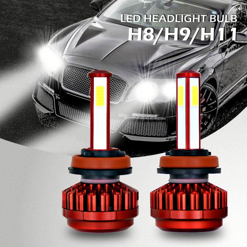 6000k Red Headlamp Bulb Finder 4 Sides Cob Best H11 Led Headlight Bulbs Led Automotive H7 Led Buy Automotive H7 Led Headlamp Bulb Finder Best H11