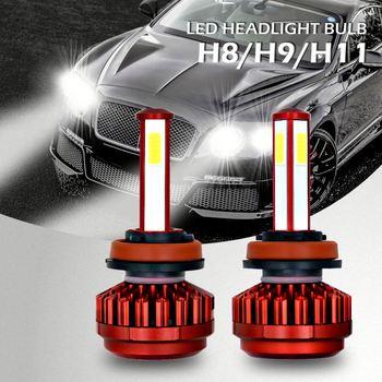 6000k Red Headlamp Bulb Finder 4 Sides Cob Best H11 Led Headlight