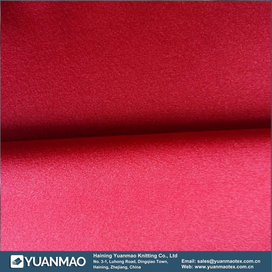 Shiny Poly Polyester spandex High-Quality Plain Warp Knitted Fabric