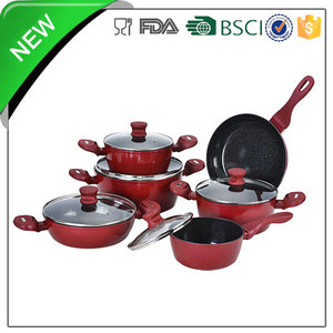 non stick aluminum cookware sets for home cooking