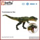 Green mandible can movable plastic t rex dinosaur model