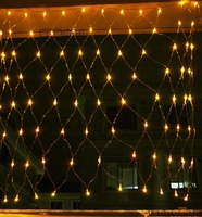 Hot sale christmas outdoor programmable triangle RGB large net fairy lights led net lights