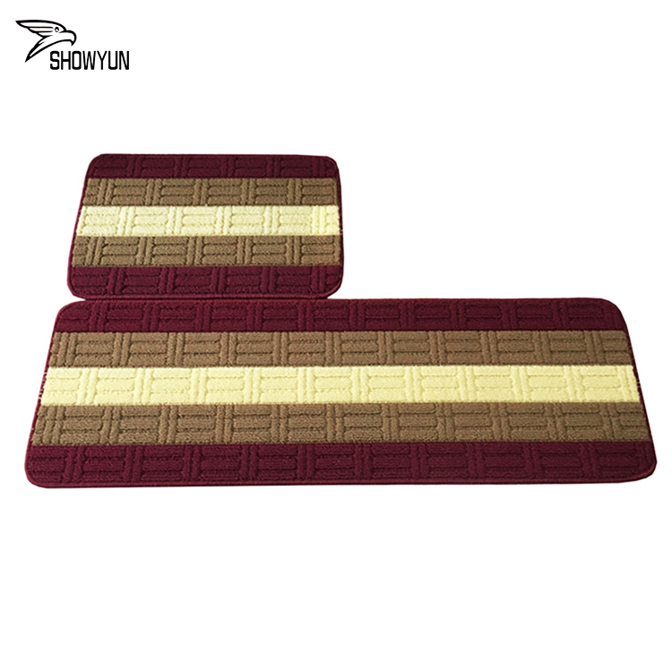 Stripe Rainbow Hotel Floor Mat Comfortable Soft Door Rug Rubber Backing Non-slip Entrance Mats
