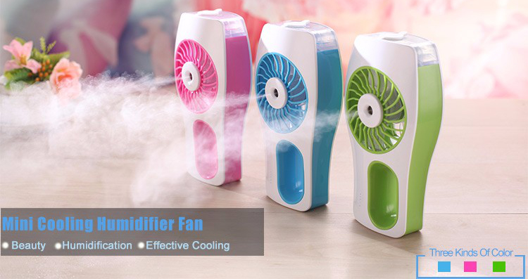 Rechargeable Mini Portable Outdoor  Air Cooler Water spray  standing  Mist Fan