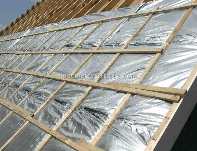 Flame retardant aluminum foil fiberglass with 3 3 mesh for Is fiberglass insulation fire resistant