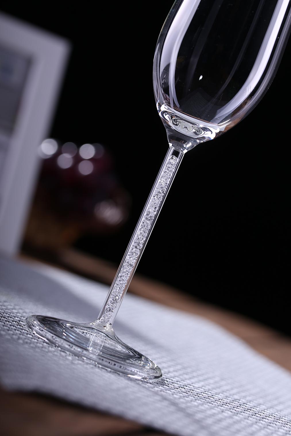 670ml Handmade  High Quality Borosilicate Glass Goblet Wine Glass