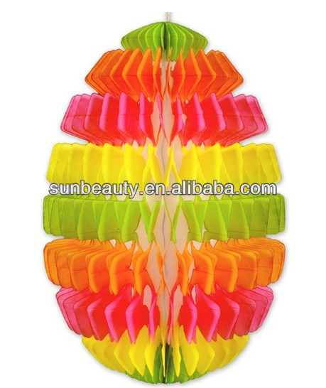 2014 New Design FSC Honeycomb Paper Easter Egg