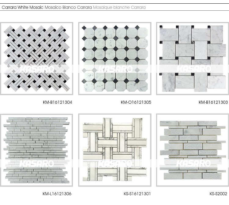 Mosaic Tile Marble Flooring Border Designs White Marble Tile