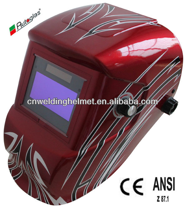 Strong and Light/Big Space Welding H1190TF Helmet Grinding mode/Big viewing window/EN175&EN379