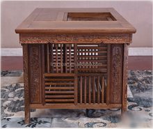 Elegant modeling tea table Chinese wooden carved tea table Chinese antique hand carved wooden console tea table