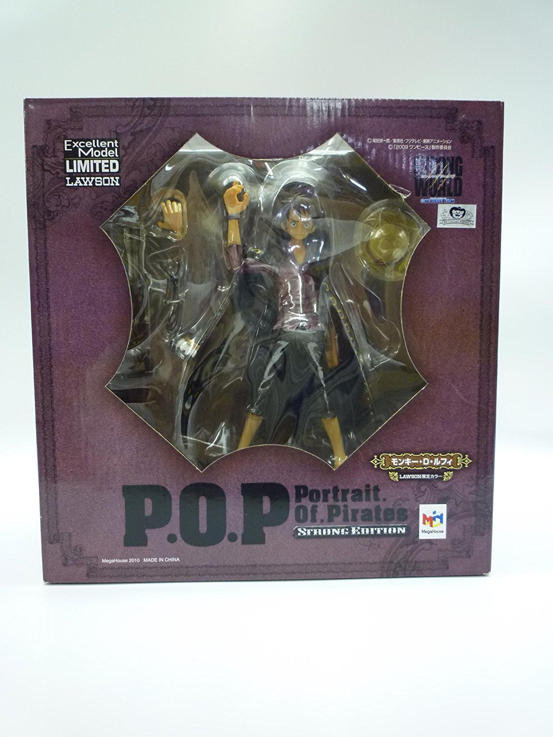 """Excellent Model Limited LAWSON Portrait of Pirates (P.O.P) One Piece """"Strong Edition"""" : Monkey D. Luffy Lawson Limited Metallic Color PVC Figure > Megahouse"""