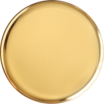 Round Golden Luxury Custom Printed Stainless Steel Metal Serving Tray