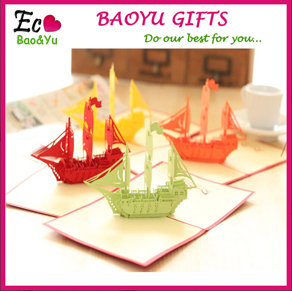 promotional d paper magic carft sailing greeting cards  buy, Greeting card