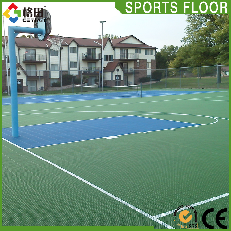 High Quality pp interlocking outdoor basketball surface,mobile basketball court construction cost