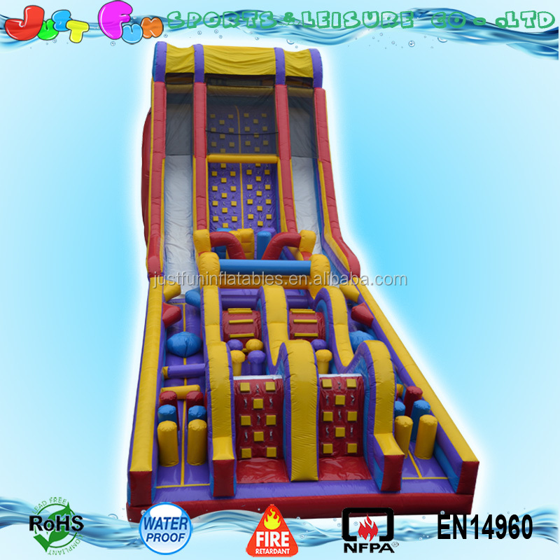 120ft giant adult inflatable obstacle course playground for sale