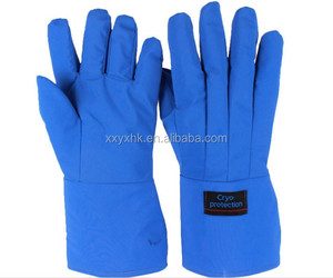 Cryogenic apron gloves against liquid nitrogen and ultra low temperature freezer