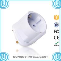 Fire retardant 13A 250v euro schuko 2 round pole electrical accessories male to female socket plug