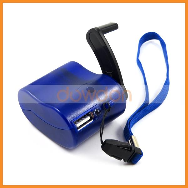 Portable Dynamo Hand Crank Kit Travel Emergency Wind Up Charger for Mobile Phone